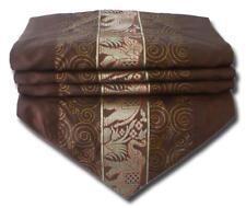 TS195 braun Tischläufer Tischdeko Tischdecke 200-x30 cm Thai Silk Elefanten edel