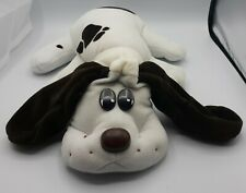 "Vintage 1985 Tonka Pound Puppy Puppies Dog Plush Large 18"" White W/ Brown Spots"