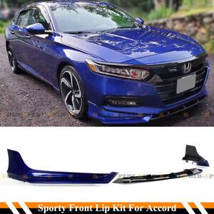 For 2018-2020 Accord Still Night Blue Pearl YF Front Bumper Lip Splitter Kit
