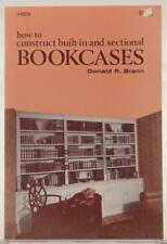 How To Construct Built-In and Sectional Bookcases 1976 Donald Brann DIY