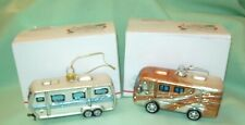2 Quality Bronners Glass Christmas Ornament Rv Trailer Camper & Motor Home