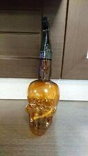 Amber tinted 600ml water spray bottle. Skull shape. Barber. Salon. Hairdresser