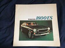 1973 Volvo P 1800E & 1800ES Sports Car Color Brochure Catalog Prospekt
