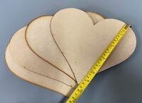 HA3 QTYx10 GIANT 250mm Wooden Love Hearts Shape Embellishments Craft Blank XXL