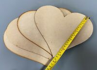 HA3 QTY x10 GIANT 250mm Wooden Love Hearts Shape Embellishments Craft Blank XXL
