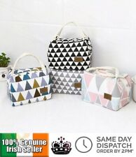 PORTABLE INSULATED LUNCH BAG BOX BENTO TOTE STORAGE CANVAS POUCH FOR SCHOOL WORK
