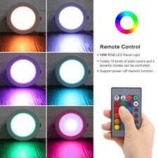 10W RGB de color cambiante LED Lámpara de Techo Empotrados Downlight + control Remoto Ir