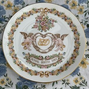 Wedgwood Charles and Diana Royal Birth 1982 Coupe Plate Made in England