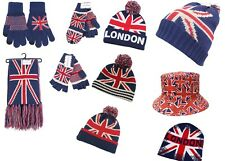 All New The Union Jack/London Collection Gloves,hats,beanie,fishing bucket;scarf