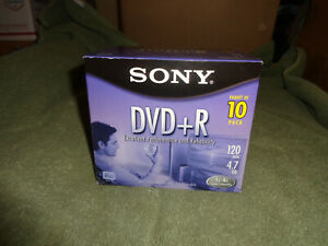sony dvd-r 10 pack120 min 4.7gb 1x-4x compatible individually wrapped