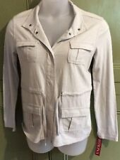 Merona M Light Weight Soft Cotton Jacket Beige BNWT