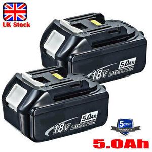 2X 18V 5AH BL1850 LXT Li-Ion Battery For Makita BL1840 BL1830 BL1860 Cordless UK