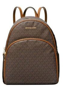 Michael Kors MK Abbey Brown Medium Backpack