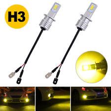H3 Led Fog Light Bulbs Professional Upgrade Kit Oem Lamp 70W 8000Lm 3000K Yellow