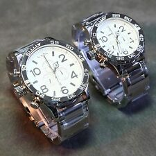 NEW NIXON 51-30, 42-20 Chrono High Polish His & Hers Watch Set,5130! FASTSHIP~!