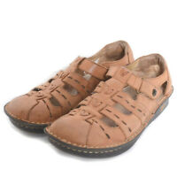 Alegria Brown PES647 Leather Sandals Size 37