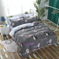 Cute Dog Single/Double/Queen/King Bed Quilt Doona Duvet Cover Set Pillowcase