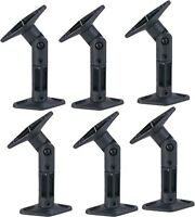 6 PACK UNIVERSAL CEILING WALL SATELLITE SPEAKER MOUNT BRACKETS HOME THEATER BOSE