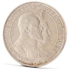 2 Kroner Silber Münze Schweden 1907 Silver coin Sweden Oskar II Golden Wedding
