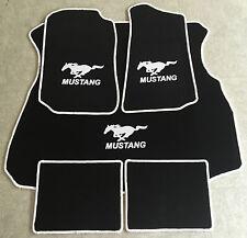 Autoteppich Fußmatten Kofferraum Set für Ford Mustang Coupe weiss 1994-04 5tlg.