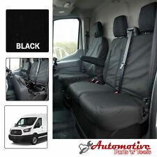 Schwarz Maßgefertigte Sitzbezüge für Ford Transit Mk8 Weich Front Beifahrer &