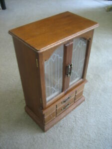 Beautiful Vintage Antique Style Wooden Miniature Armoire Jewelry Box