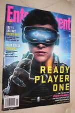 Entertainment Weekly-Mar 30, 2018-Ready Player One-Tye Sheridan-NO ADDRESS LABEL