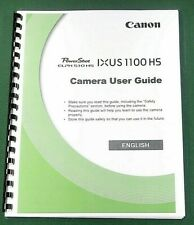 Canon PowerShot Ixus 1100 HS Instruction Manual: 212 Pages & Protective Covers