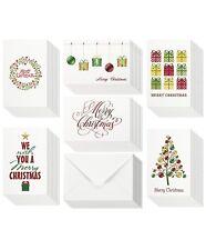48 Christmas Cards Bulk Assortment Set – 6 Unique Merry Christmas Designs with