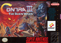 CONTRA III The Alien Wars  SNES Super Nintendo USA NTSC 16bit 46pin (Game Card)