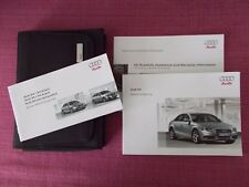 AUDI A4 SALOON (2008 - 2012) USER MANUAL - USER GUIDE - HANDBOOK. YJL 1477