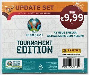 Panini EURO 2020 Tournament Edition Sealed Update Set 72 Stickers NEW