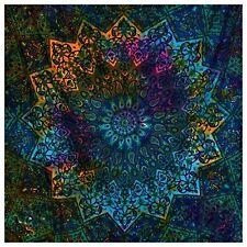 Blue Tie Dye Bohemian Tapestry Elephant Mandala Tapestry Wall Hanging Boho Hippy