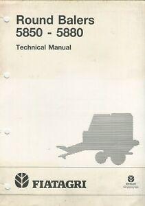 New Holland FiatAgri 5850 5880 Round Baler Technical Manual