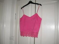 Ladies Cami Top Design Temt Size 10 Colour Pink Shoe String Straps Dacron 100%