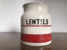 C1950 Sadler KLEEN KITCHEN WARE - 1 Pint LENTILS Jar