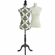Beautify Female Dressmaking Tailors Mannequin with 2 Removable Covers - UK 8/10