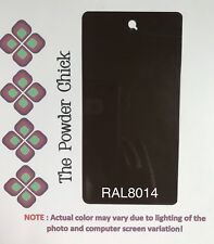 RAL 8014 49/65230 Sepia Brown Powder Coating Paint 1lb Bag NEW