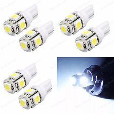 6 x Xenon White T10 5050 W5W License Plate LED Light Bulbs 192 194 921 168 2825
