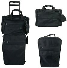 """Briggs and Riley black 24"""" Wheeled Carry On Luggage with Travel Duffle Bag"""