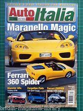 Auto Italia 52 - 360 Spider GTV6 124 Sport 250 SWB Fiat 1100S Ghibli Alfa 156