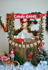 Candy Canes Christmas Party Backdrop Baby Photography Background 5x7 Studio Prop