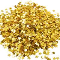 EG_ GOLD STAR CONFETTI TABLE METALLIC FOIL SEQUIN FOR PARTY WEDDING DECORATION U