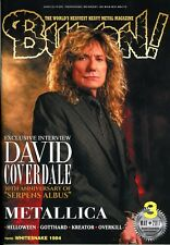 Burrn! Heavy Metal Magazine March 2017 Japan David Coverdale Metallica Helloween