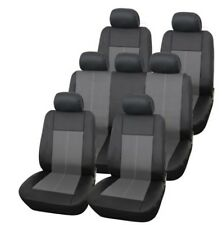 Premium Leather Look Milan Black & Grey 7 Seater Car MPV Seat Cover Set 13 Piece