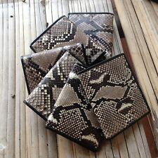 Genuine Python Leather BiFold Purse Handmade Snake Skin Men's Wallet Purse