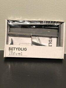 IKEA BETYDLIG 102.198.90 GRAY NEW curtain rod hanger mount wall to ceiling