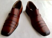 New Handmade Peruvian Men Leather Shoes Color Mocca 42 US 9 Loafers Slip-On