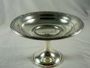 FABULOUS VINTAGE ESTATE WALLACE STERLING SILVER COMPOTE COMPORT TAZZA  #18513