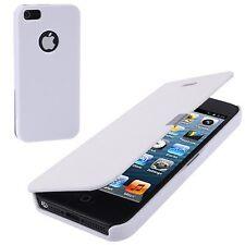 Horizontal PU-Leder Tasche für Apple iPhone 5 mit Magnetverschluss in weiß